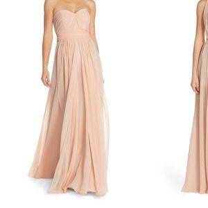 Jenny Yoo Convertible Strapless Chiffon Gown